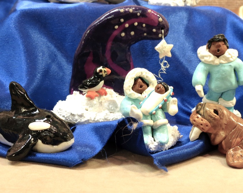Northern Lights Nativity - small©